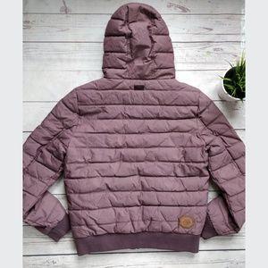 NWT NAKETANO Men's Puffer Winter Jacket L Purple NWT